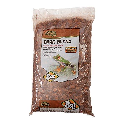 - Zilla Reptile Terrarium Bedding Substrate Bark Blend, 8-Quart