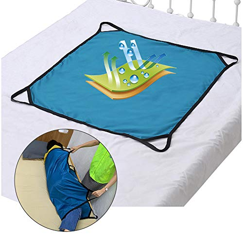 Positioning Pad Draw Sheet Lift Patient Transfer Board Sliding Hospital Bed Mat Protective Underpads with Handles for Incontinence, Bariatric, Elderly - Reusable & Washable (39