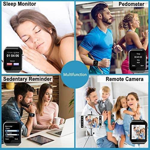 Smart Watch for Android Phones,Smartwatch for Men Women,Smart Watches with Camera Bluetooth Watch with SIM Card Slot Cell Phone Watch Smartwatch for Android Samsung Phone iOS XS X8 10 11 515bTeioVEL