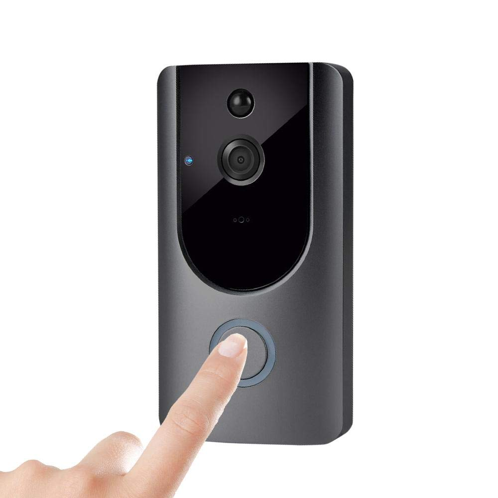 KOBWA Wi-Fi Enabled Video Doorbell, 720P HD Doorbell Camera with Two-Way Talk & Video, PIR Motion Detection, IR Night Vision Wireless Doorbell Support iOS and Android