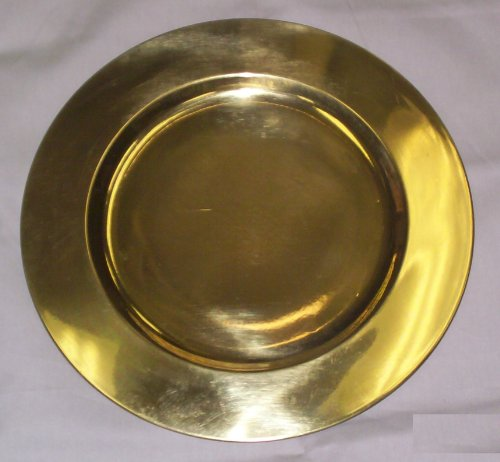 "Solid Brass Charger Plates (Underplates) 12"" from India"