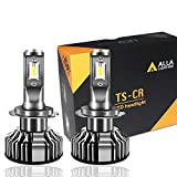 Alla Lighting 10000lm LED H7 Headlight Bulbs Extremely Super Bright TS-CR H7 LED