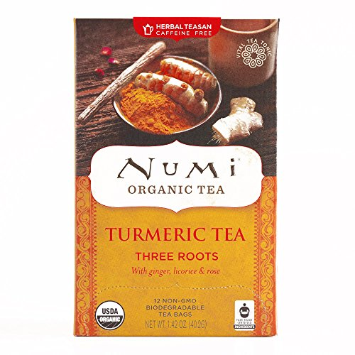 Numi Three Roots Turmeric Tea 12-Count 1.46 oz each (1 Item Per Order, not per case)