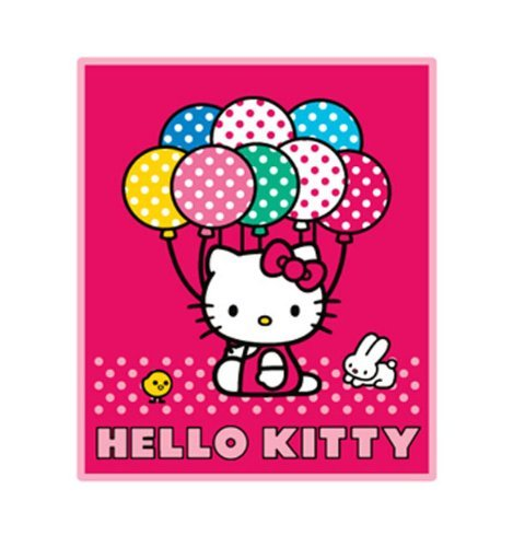 (Hello Kitty Blanket - Hello Kitty Sanrio Throw (50 x 60 in) Baloon)