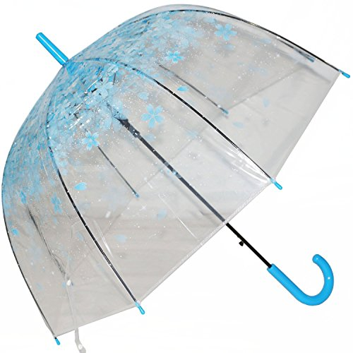 UPC 190033352877, Clear Bubble Umbrella Half Automatic Flower Dome Shape Rain Umbrella