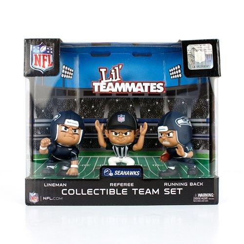 Lil' Teammates 3 Figurine Seattle Seahawks NFL Team Set (Pack of - Inch Lil Player Team 3