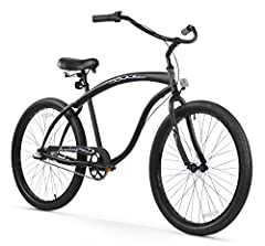 """The perfect cruiser for the guy's guy, the 26-inch Bruiser men's cruiser bike from Firmstrong is available in single, three or seven speeds. It features a modern look with an elongated frame. A great fit for most men from 5'-4"""" to 6'-4"""" tall,..."""