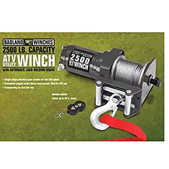 2500 lb electric atv utility winch with wireless remote control rh amazon com