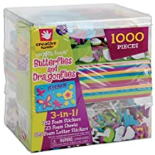 Fibre Craft 1545E Supplies 3-in-1 Foam Kit, Butterflies/Dragons