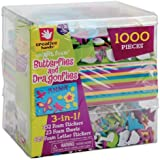 Fibre Craft 3-in-1 Foam Kit, Butterflies/Dragons, 1000 pcs