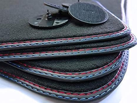Styling 4youcar Doppelnaht Fußmatten Für E87 Höchste Qualität Design 4 Klett Autoteppiche Automatten Rot Blau Auto
