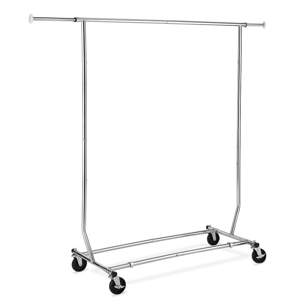 TomCare Garment Rack 200-220lb Capacity Adjustable Clothes Rack Clothing Rack Extensible Clothes Hanging Rack Commercial Grade Garment Rack Hanging Heavy Duty Clothing Garment Racks by TomCare