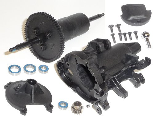 (Traxxas Funny Car * DIFFERENTIAL, GEARBOX CASE, PINION, SPUR & BEARINGS * Diff)