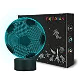 toy room ideas Kids Night Light Football 3D Optical Illusion Lamp with 7 Colors Changing Soccer Birthday Xmas Valentine's Day Gift Idea for Sport Fan Boys Girls