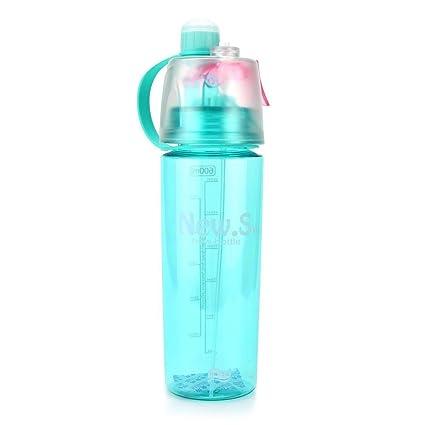 AUTOECHO® Botella de Agua de Aerosol Deportiva al Aire Libre Grande de 20 oz de