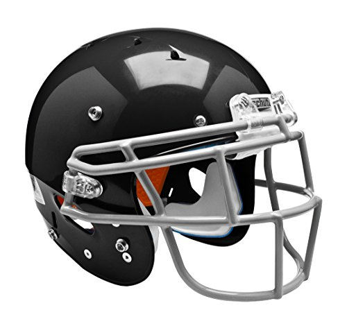 Schutt Sports 798004 Youth Recruit Hybrid Football Helmet (Faceguard Not Included), Black Matte Clear, XX-Small