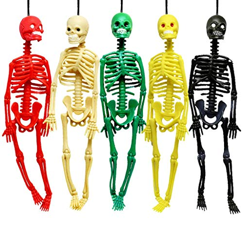 - PartyYeah Stretchy Skeleton Bulk Glitter Colors Kit for Birthday, Elastic Skeleton for Halloween Party Favors for Kids Goodie Bags, Easter Egg Basket, Pinata Filler, Classroom Prizes, 5Pcs, 7.87inch