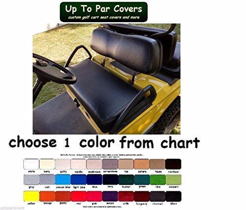 Club Car DS 2000+ Custom Golf Cart Seat Cover Set Made with Marine Grade Vinyl - Staple On - Choose Your Color From Our Color Chart! by Up To Par Covers