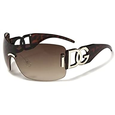 DG Womens Ladies Designer New Fashion Hip Oversized Brown Sunglasses ... 5b15777c89