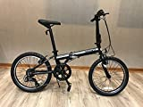 EuroMini Campo 20' Compact Folding Bike-Lightweight Affordable Aluminum Frame Genuine Shimano 7-Speed 28lb