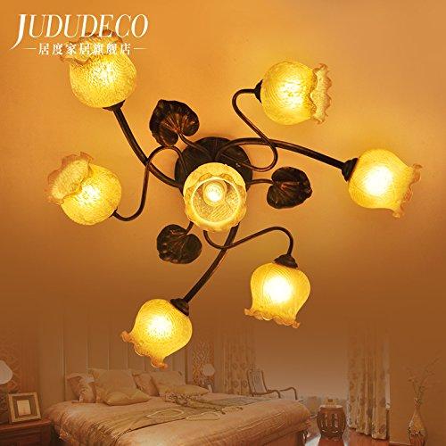 BLYC- Europäischen Landhausstil Deckenlampe Lampe kleines Wohnzimmer Esszimmer Schlafzimmer ist Eisen ein romantisches Schlafzimmer 800mm 260mm