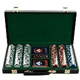 Trademark Poker 300 Hold'Em Poker Chips Set in Vinyl Case, 11.5gm