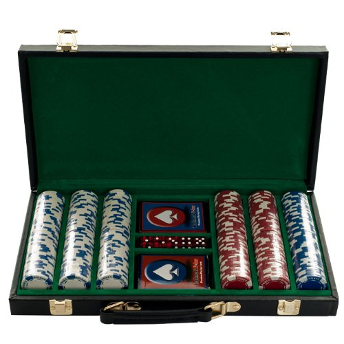 Trademark Poker 300 Hold'Em Poker Chips Set in Vinyl Case, 11.5gm by Trademark Poker