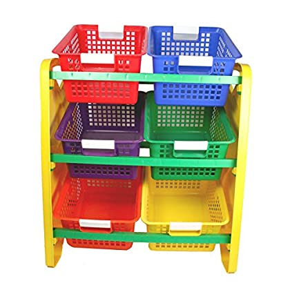 Image of Romanoff Toy Organizer w/6 Baskets Bread Baskets