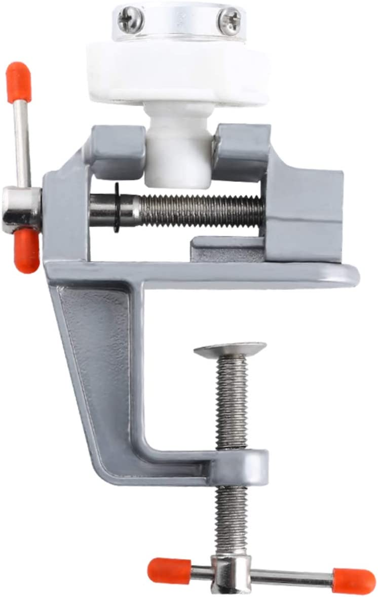 Mini Table Clamp Small Bench Vice,2 pack Portable Precision Work Bench Vise Jewelers Hobby Clamps Craft Repair Tool