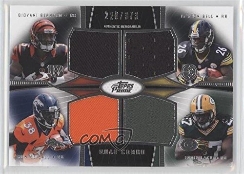 Giovani Bernard  Leveon Bell  Montee Ball  Eddie Lacy  220 373  Football Card  2013 Topps Prime   Quad Combo Relics  Qcr Bbbl