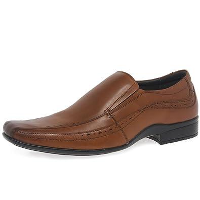 Front SEALEY Mens Formal Slip EN Los Zapatos 10/44 Tan SVJB4yw