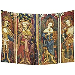 JC-Dress Wall Tapestry Medieval Paintings Cotton Linen Tapestries Hanging 60 X80