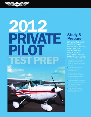Private Pilot Test Prep 2012: Study and Prepare for Recreational and Private: Airplane, Helicopter, Gyroplane, Glider, B