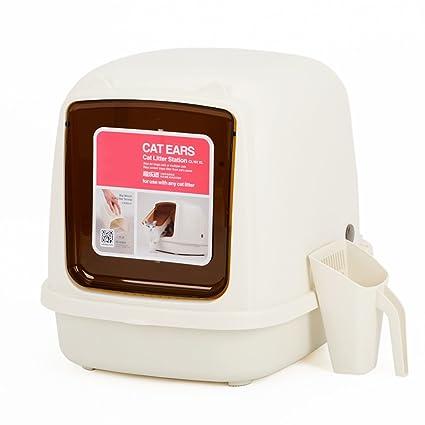 Inodoro Cat, Bandeja para Desechos, Extra Grande, Completamente Cerrada, Bandeja para Gatos