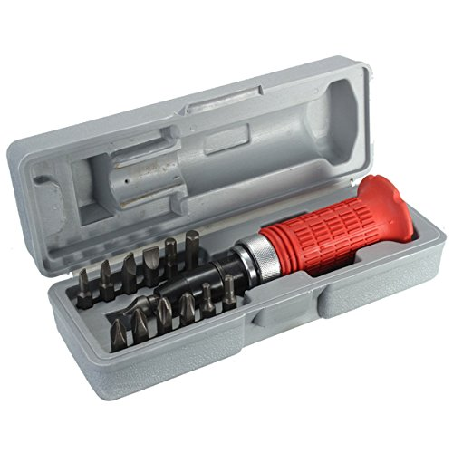 14pcs Heavy Duty Impact Screw Driver Wrench Bits Tool Set with Case Rusted (Spark Plug Socket 3 4 compare prices)