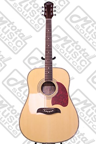 [해외]Oscar Schmidt OG2 Acoustic Dreadnought 기타, 자연, Gigbag 번들, OG2N BAGPACK/Oscar Schmidt OG2 Acoustic Dreadnought Guitar, Natural, Gigbag Bundle, OG2N BAGPACK