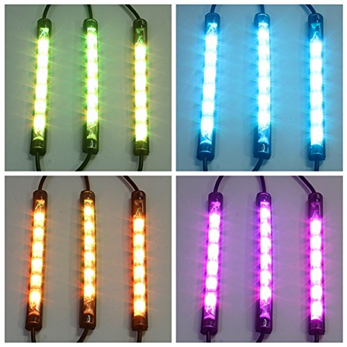 HITSAN 10pcs Waterproof RGB LED Flexible NEON Strip Light Kit For Motorcycle Auto ATV One Piece by HITSAN (Image #3)