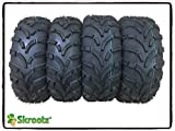 4 New WANDA ATV Tires AT 25x8-12 Front & 25x10-12 Rear /6PR -10243/10244 6PR P373 by Skroutz