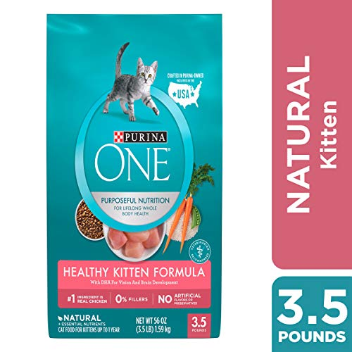 Purina ONE Natural Dry Kitten Food; Healthy Kitten - 3.5 lb. Bag