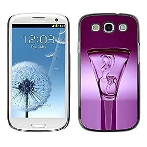 Cubierta de la caja de protección la piel dura para el SAMSUNG GALAXY S3 & I9300 - shot lilac purple vodka drink crystal