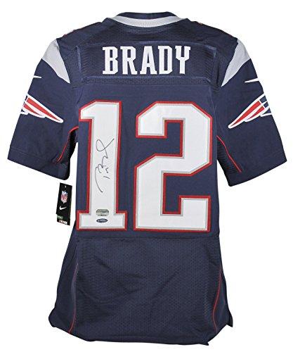 Patriots Tom Brady Signed Blue Nike NFL Elite Jersey Fanatics & Tri Star COAs