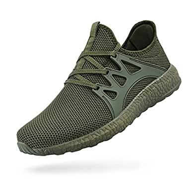 ZOCAVIA Womens Non Slip Light Weight Running Shoes Green Size: 11