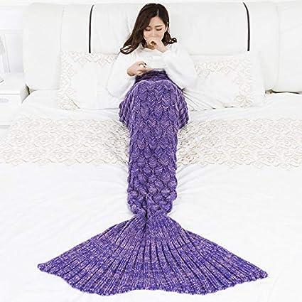 Manta de Cola de Sirena por YOWAO, Escamas de Pescado Patrón Suave Todas las Temporadas