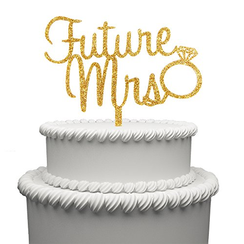Future Mr and Mrs Cake Topper Acrylic Love Ring Wedding Cake Topper Funny Bride and Groom Cake -