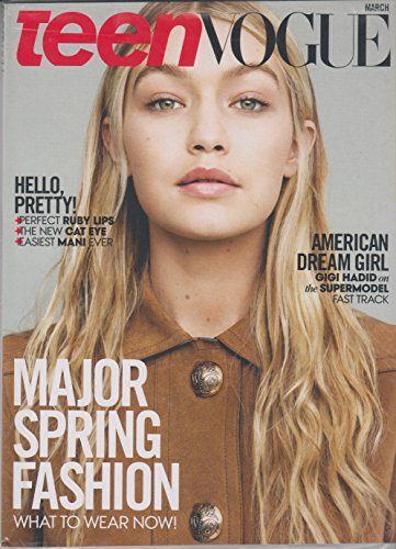 Teen Vogue March 2015 American Dream Girl Gigi Hadid (Gigi Hadid Vogue)
