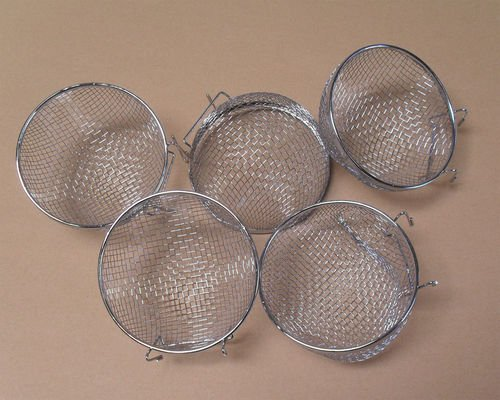 515bZmbClNL - Metal Finch Canary Bird Nests Lot of 5 by Mcage