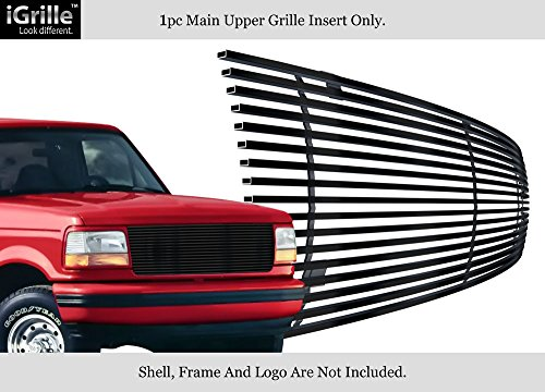 APS Fits 1992-1996 Ford Bronco/F-150/F-250/F-350 Stainless Black Billet Grille Grill #F85007J