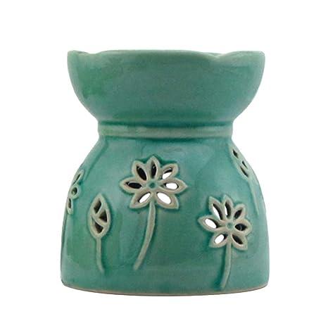 SUPVOX Titular de la luz del té de cerámica Vela Hueca ...