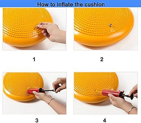 Pompe Inclus /équilibre Disque 35/cm//de diam/ètre LVEA Air stabilit/é Coussin d/équilibre