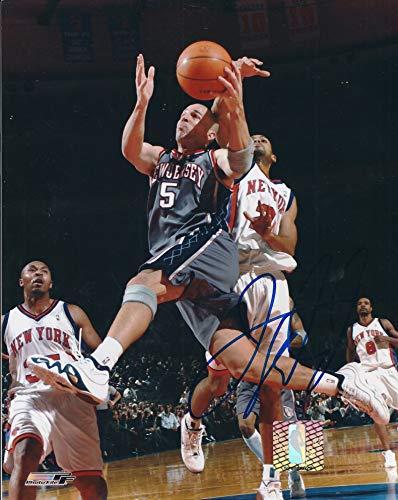 Autographed Jason Kidd 8x10 New Jersey Nets Photo - Jason Kidd Merchandise